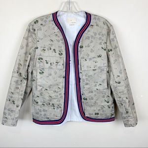 Boy Band Of Outsiders Cargo Utility Floral Jacket
